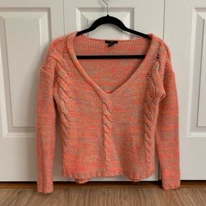 Pink Multi-Color Knot Sweater